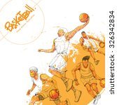 illustration of basketball.... | Shutterstock .eps vector #326342834