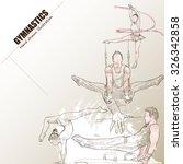 illustration of gymnastics.... | Shutterstock .eps vector #326342858