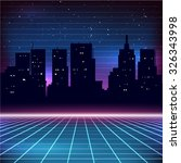 80s Retro Sci Fi Background...