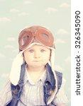sweet little baby dreaming of... | Shutterstock . vector #326345090