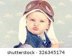 sweet little baby dreaming of... | Shutterstock . vector #326345174