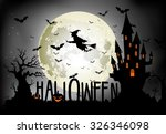 Halloween Background Of Witch...