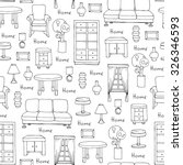 vector seamless pattern with... | Shutterstock .eps vector #326346593