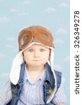 sweet little baby dreaming of... | Shutterstock . vector #326349278