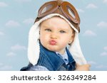 sweet little baby dreaming of... | Shutterstock . vector #326349284