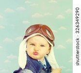 sweet little baby dreaming of... | Shutterstock . vector #326349290