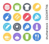 food icons set | Shutterstock .eps vector #326349746