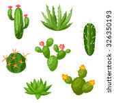collection of abstract cactuses ... | Shutterstock .eps vector #326350193