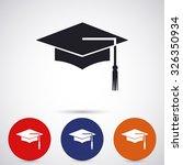 graduation  vector icon 10 eps