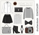 Vector Stylish Fashion Set Of...