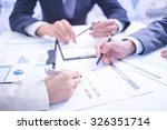 two businessmen looking at... | Shutterstock . vector #326351714