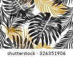 tropical palm leaves  jungle...   Shutterstock .eps vector #326351906