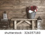 winter home decor. christmas... | Shutterstock . vector #326357183