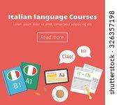 web banner for italian language ...   Shutterstock .eps vector #326357198