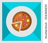 icon of pizza with cut slice | Shutterstock .eps vector #326360654