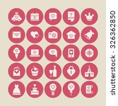 a set of vector icons  graphics ... | Shutterstock .eps vector #326362850