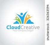 cloud creative cloud logo... | Shutterstock .eps vector #326363594