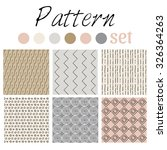 set geo pattern in vector. | Shutterstock .eps vector #326364263