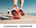 running sport. man runner legs... | Shutterstock . vector #326366438