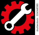 service tools raster icon.... | Shutterstock . vector #326368580