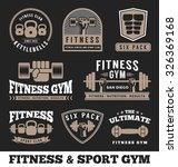 set of fitness gym and sport... | Shutterstock .eps vector #326369168
