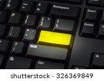 Keyboard With Blank Gold Key   ...