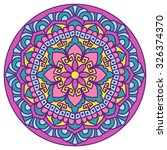 mandala. vector ethnic oriental ... | Shutterstock .eps vector #326374370