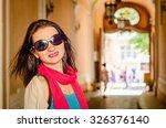 outdoor fashion closeup... | Shutterstock . vector #326376140