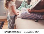 mother and toddler daughter... | Shutterstock . vector #326380454