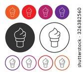 ice cream icon. dessert icon.... | Shutterstock .eps vector #326382560