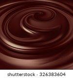 flow of liquid chocolate full... | Shutterstock . vector #326383604
