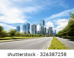 asphalt road of a modern city... | Shutterstock . vector #326387258