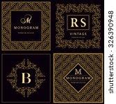 monogram design elements ...   Shutterstock .eps vector #326390948