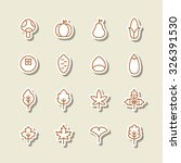 a set of vector icon for fall ... | Shutterstock .eps vector #326391530