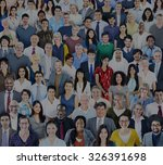 large group of diverse... | Shutterstock . vector #326391698