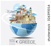 greece landmark global travel... | Shutterstock .eps vector #326395016