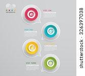 Постер, плакат: Talk buble Modern Infographic