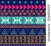 neon multicolor navajo ethnic...   Shutterstock .eps vector #326401019