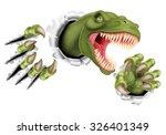 a t rex tyrannosaurus rex... | Shutterstock .eps vector #326401349