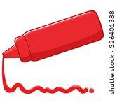 bottle and spilled sauce of... | Shutterstock .eps vector #326401388