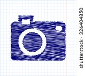 Vector Camera Icon With Pen An...