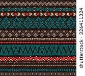 dark color navajo ethnic... | Shutterstock .eps vector #326411324