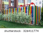 Colorful Playground Is Fenced...