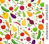 organic food seamless pattern.... | Shutterstock .eps vector #326413223