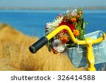 Beautiful Yellow Bicycle With...