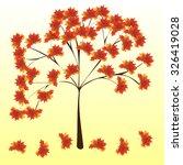 autumn maple tree red leaves... | Shutterstock .eps vector #326419028