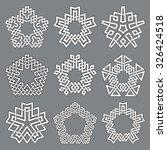 set of pentagonal frames. nine... | Shutterstock .eps vector #326424518