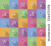 a set of vector icons for love  ... | Shutterstock .eps vector #326425358