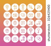 a set of vector icons for love  ... | Shutterstock .eps vector #326425400