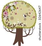beautiful vector autumn tree...   Shutterstock .eps vector #32642647